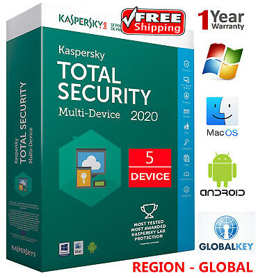 KASPERSKY TOTAL Security 2019 / 5 DEVICE /1 Year /GLOBAL - KEY / Download 19.45$