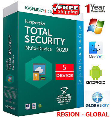 KASPERSKY TOTAL Security 2020 / 5 DEVICE /1 Year /GLOBAL - KEY / Download 19.45$