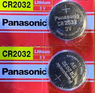 2 Panasonic CR2032  ECR 2032 Battery 3V Authorized seller. Exp. 2028. USA Ship.
