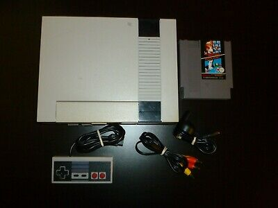 Nintendo NES Console Complete With All Cords Controller+ Super Mario Bros Game A