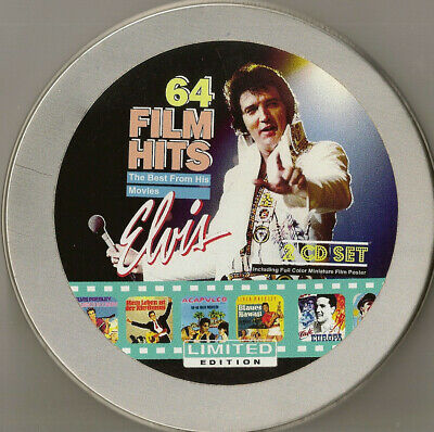 """Elvis Presley """"64 Film Hits 2Cd Limited Edition Film Can Set Very Rare"""" Last One"""