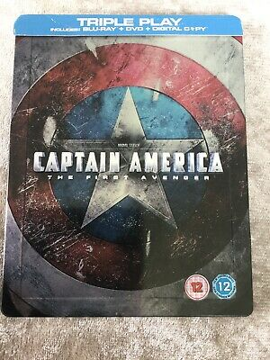 Captain America The First Avenger HMV Ex Blu Ray Steelbook