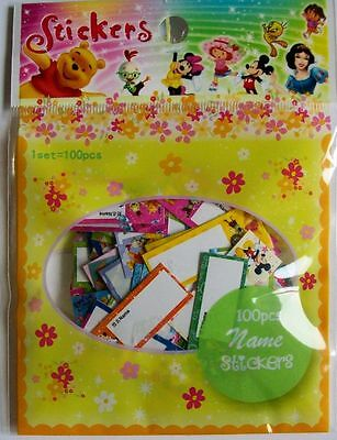 ca. 100 Glitzersticker Disney Namen