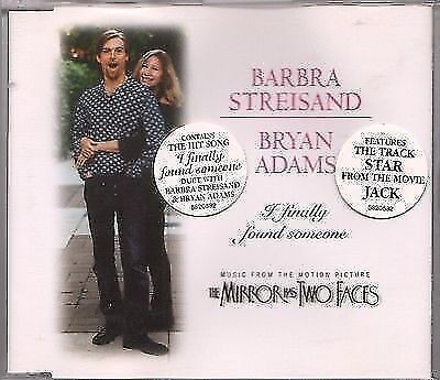 "BARBRA STREISAND & BRYAN ADAMS ""I Finally Found Someone"" A&M CD SINGLE 1996"