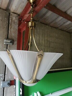 Frosted glass ceiling lamp, art deco