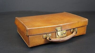 Stunning Antique Small Tan Leather Case by Boswell