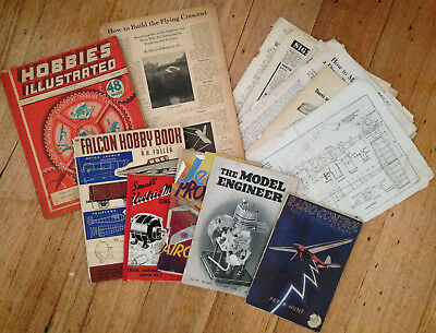 Vintage Model Aircraft/Hobby Books and Magazines 1930s - 1950s