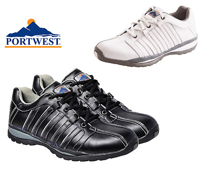 Portwest FW33 Steelite ARX Unisex Leather Safety Trainers Shoes Boots Footwear .