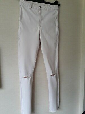 Girls Pale Ice Pink Skinny Ripped Jeans. Age 13-14. Zara.