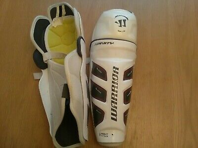 """Warrior Ice hockey Shin  / knee pads   14"""" -  used but in good condition"""