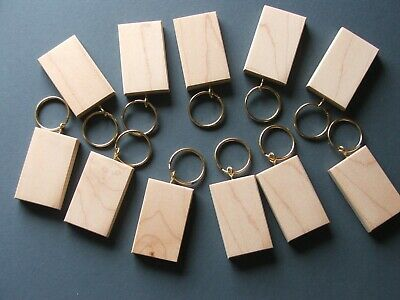 BLANK KEYRING 50mmx30mm MAPLE PYROGRAPHY/LASER 12 FOR £6.95+£1-50 POSTAGE