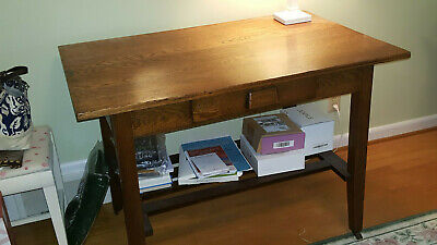 Mission Style Oak Library Table