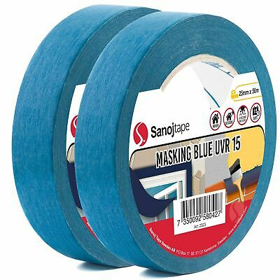 Ruban de Masquage Bleu à usage Professionnel de Sanojtape | Lot de 2-25 mm x 50