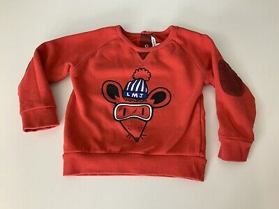 Little Marc Jacobs Red Jumper Sweater Age 3 Years Size 94cm VGC Boys