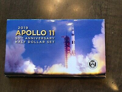Apollo 11 50th Anniversary 2019 Proof Half Dollar Set Sold Out Kennedy