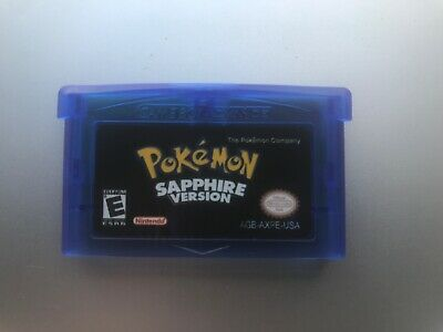 Pokemon Sapphire (Gameboy Advance GBA) Reproduction
