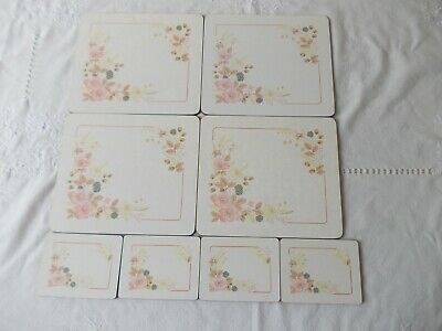 Boots Hedge Rose4 table place mats & 4 coasters