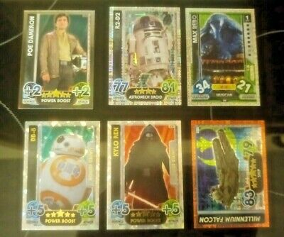 Topps Star Wars Force Attack Cards BB8 & Kylo Ren Limited Edition Foil Rares