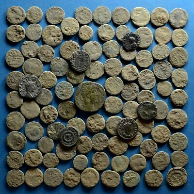 Lot of 100 Uncleaned Roman Bronze Coins #2