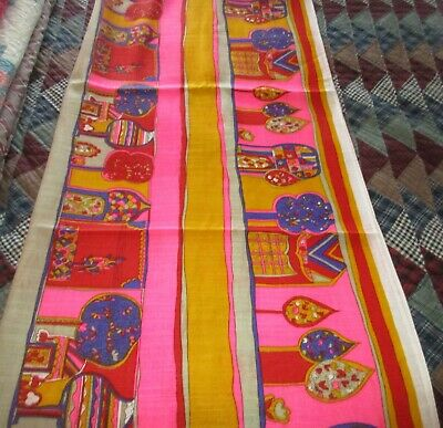 Bright Groovy Hippie Mod Lauratex Textiles Fabric - 3 Yards