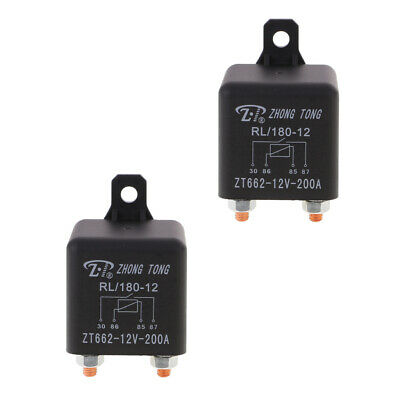 2x 200A 12V Car Truck On Off Changeover Switch Fused 4-Pin Relay Automotive