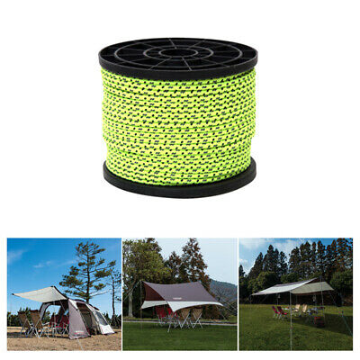 4mm 50 Meters Reflective Guyline Tent Rope Camping Guy Line Cord Paracord