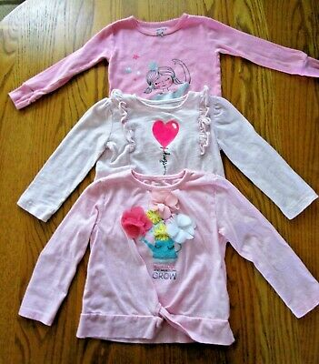 Girl Toddler SET of 3 Long Sleeve Tops Size 2T Pink By Carter's and Koalakids