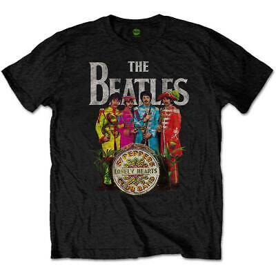 The Beatles Sgt. Peppers John Lennon Rock Band Official Black Mens T-shirt