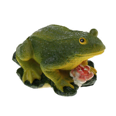 Decorative Resin Frog Statue Sculpture Figurine Collectables Craft Gift -3''