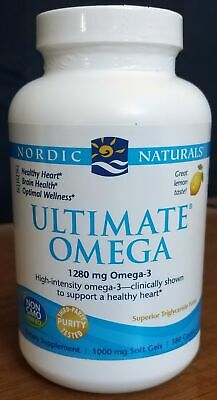 Nordic Naturals Ultimate Omega - Omega 3 - Lemon taste - 180ct - 1000mg - NEW!