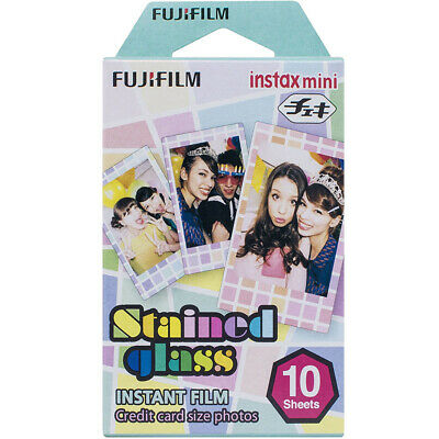 Fujifilm INSTAX Mini Stained Glass Instant Film Multi-Color (10 Sheets) - 162037