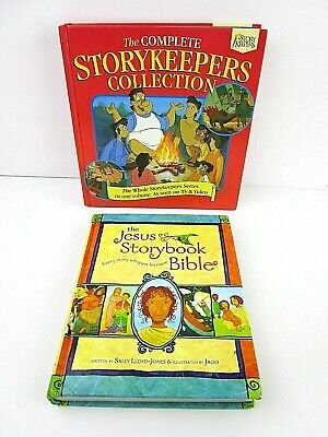 Lot of 2 Children's Books Jesus Storybook Bible & Storykeepers Collection 18A