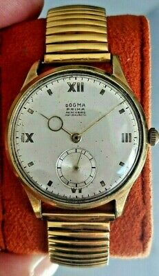 Vintage Dogma Swiss Watch Art Deco Pointer Breguet 1940 Mens Jumbo Size,Montre