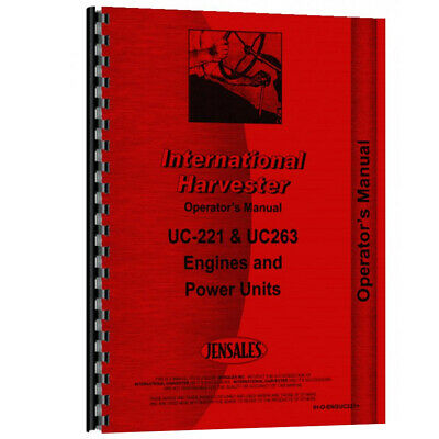 New Operators Manual Made for Case-IH Power Unit Model UC263