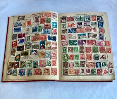 Vintage World Stamps in Album