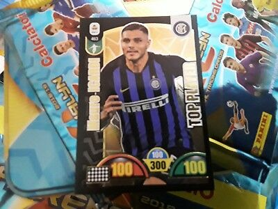 "Card  ""MAURO ICARDI TOP PLAYER ""Adrenalyn Calciatori  2018-19 Panini n°463!"
