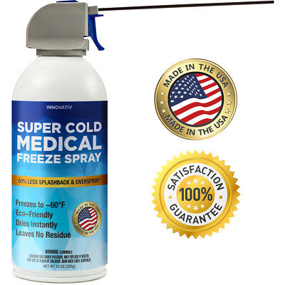 Medical Freeze Spray Skin Tag Wart Mole Remover Removal Device 10oz Made in USA