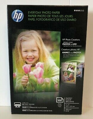 HP Genuine Professional Photo Paper 100 Sheets 4x6 Glossy CR759A New