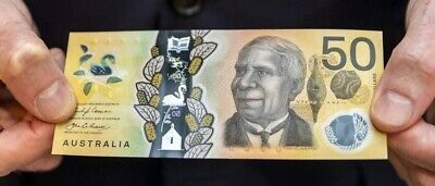RARE new $50 AUD note spelling errors no longer in production MINT CONDITION.