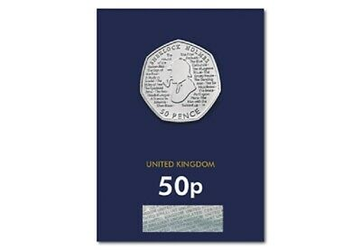 2019 Sherlock Holmes 50P Fifty Pence Certified Bu - Official Uk Issue