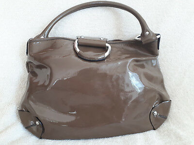 Sac A Main Sequoia Marron Clair En Cuir Verni - Handbag Sequoia Clear Brown