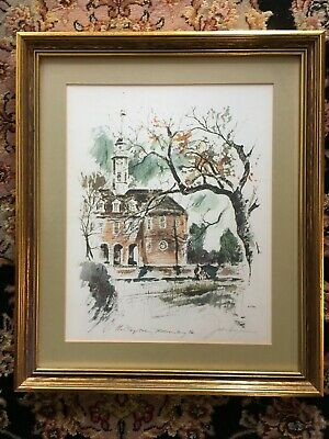 Williamsburg Print John Haymson The Capital framed and matted