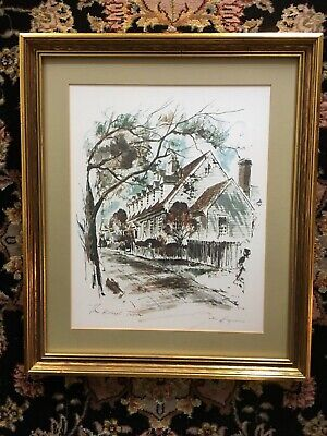 Williamsburg Print John Haymson  The Raleigh Tavern framed and matted