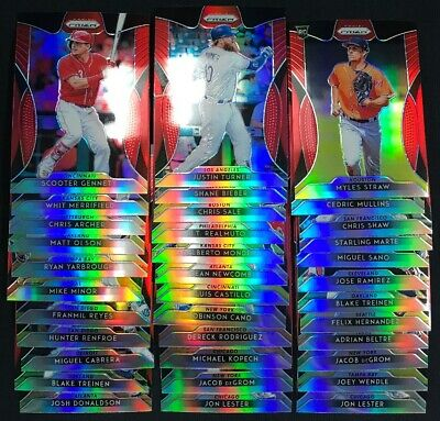 2019 Panini Prizm Red Prizm Lot of 35 Tier 1 W/ RC's
