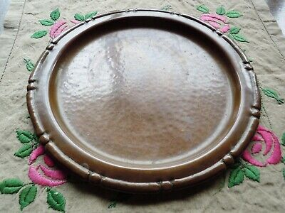Vintage Nekrassoff Arts & Crafts Hammered Copper Tray