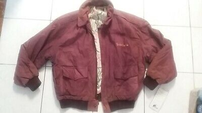 NWT Vintage Timberland Leather Jacket Mens size M Western style boot Weathergear