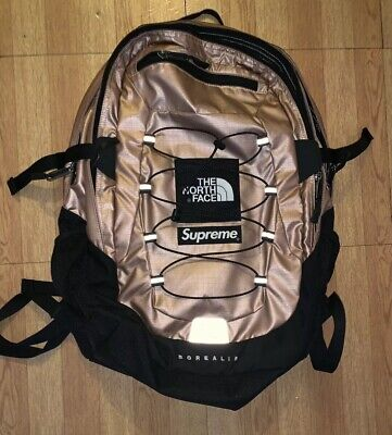 07a3b3c18f Supreme The North Face Metallic Borealis Backpack Rose Gold Fair Condition