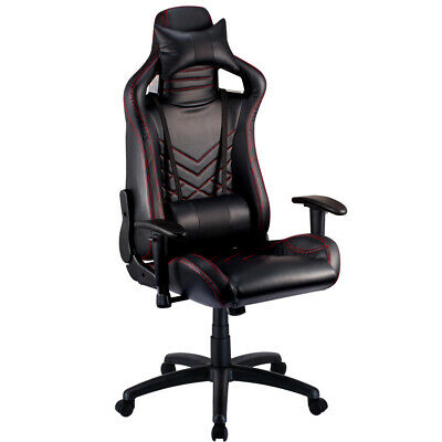 Gaming Chair - Office Computer Racing PU Leather Executive Black Race