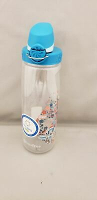 df8111b62a Nalgene On The Fly 24oz Water Bottle Clear Glacial Cir w/Blue OTF Cap -