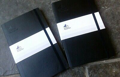 Moleskine : A set of two black cover notebooks - Invesco Perpetual (New)